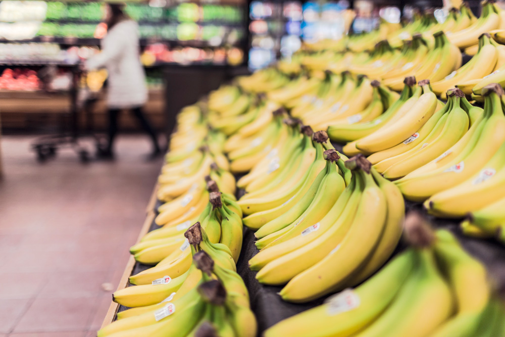 bananas at the grocery store